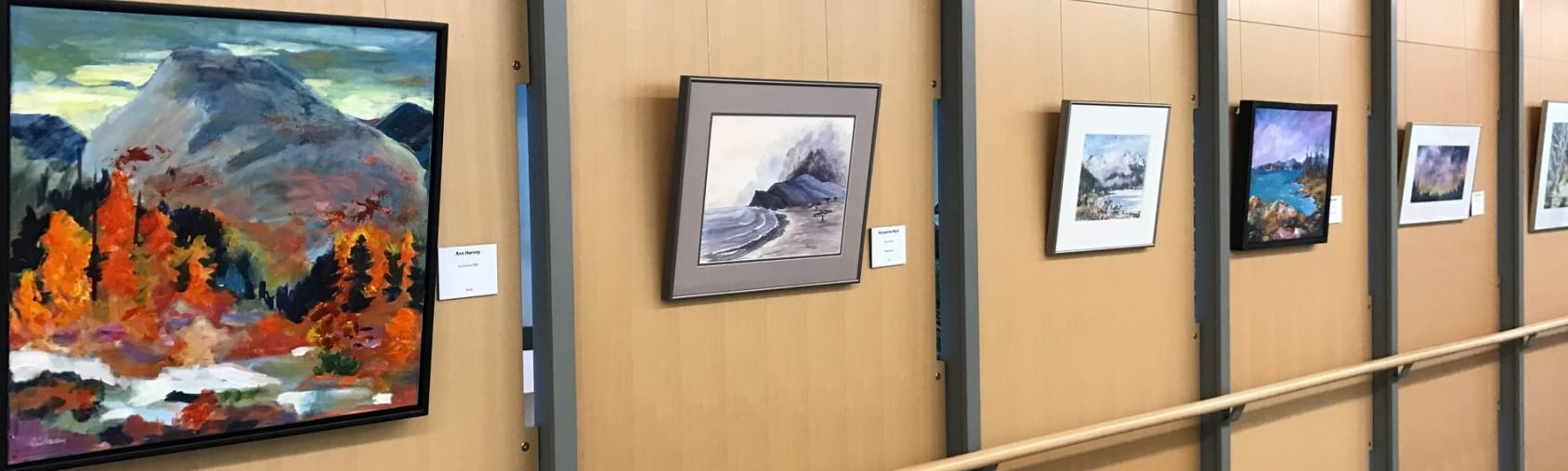 Exhibit of local artists at City Hall.