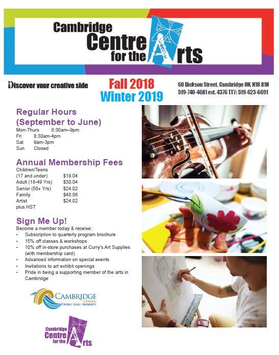 program brochure cambridge centre for the arts